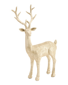 17in Glitter Reindeer Decor
