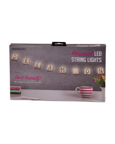 DIY Letter Kit String Lights