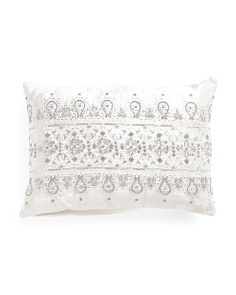Made In India 14x20 Beaded Pillow