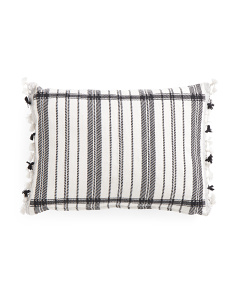 Made In India 14x20 Striped Pillow