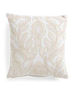 Made In India 19x19 Beaded Pillow
