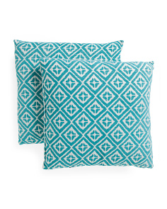 20x20 2pk Diamond Chenille Pillows