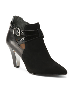 Open Side Leather Booties
