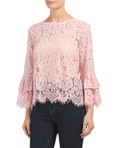 Dramatic Bell Sleeve Lace Top