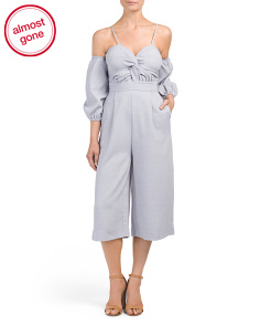 Off The Shoulder Balloon Sleeve Jumpsuit