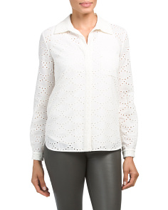 Lorelei Button Down Eyelet Shirt