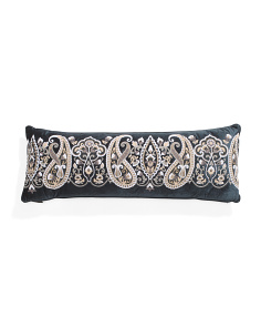 14x40 Velvet Chainstitch  Pillow