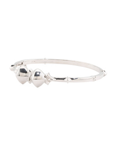 Made In UK Sterling Silver Superstud Bangle Bracelet