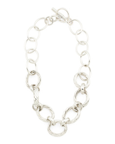 Made In Mexico Sterling Silver Link Necklace