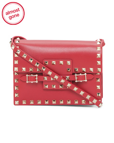 Made In Italy Rockstud Leather Crossbody