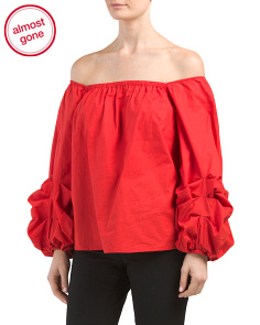 Off The Shoulder Puffy Sleeve Top