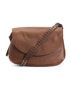 Made In Italy Leather Saddle Bag