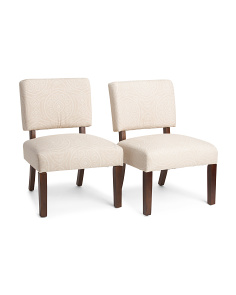 Set Of 2 Jasmine Aztec Chairs