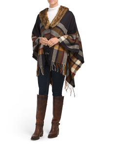 Woven Oversized Plaid Blanket Wrap