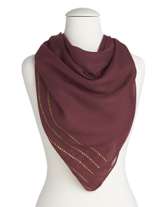 Studded Square Scarf