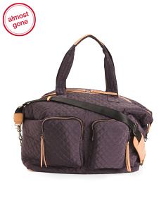 Quilted Large Weekender Bag