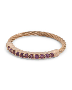 Laetitia Amethyst Gold Cable Ring