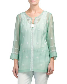 Paradise Tie Front Tunic