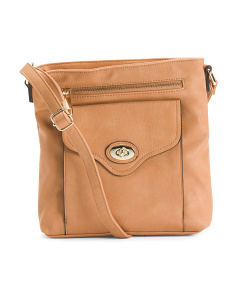 Large Crossbody With Front Pocket