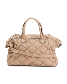 Large Quilted Satchel