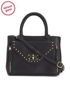 Structured Studded Satchel
