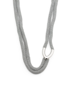 Made In Bali Sterling Silver Lasso Mesh Necklace