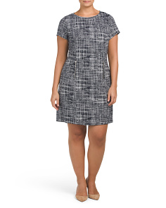 Plus Madiba Textured Shift Dress