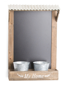 Chalkboard With Planters