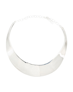 Made In Israel Sterling Silver Wide Collar Necklace