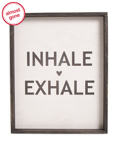16x20 Inhale Exhale Wall Art
