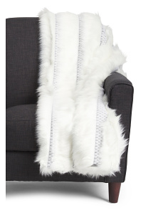 Wampanoag Faux Fur Throw