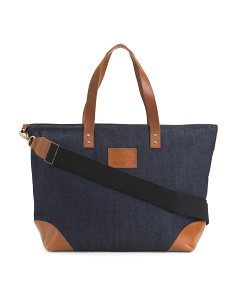 Made In USA Denim Tote