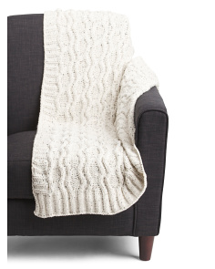 Speckled Cable Throw In Gift Box