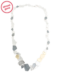 Made In Israel Sterling Silver Organic Chunk Necklace