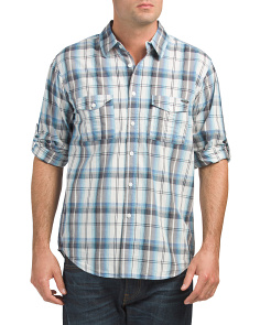 Plaid Shirt With Flap Pockets