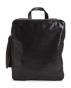 Square Leather Backpack