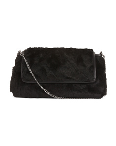 Made In Italy Faux Fur Leather Crossbody