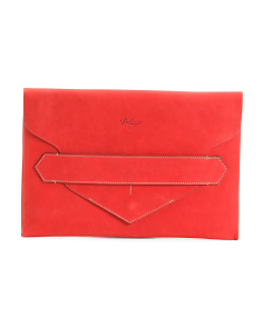Made In Italy Envelope Leather Clutch