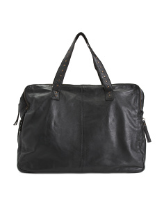 Made In Italy Leather Travel Duffel