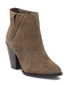 Made In Italy Chunky Suede Booties