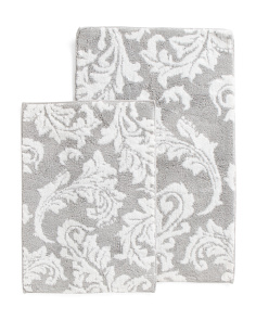 Made In India 2pk Jacquard Bath Rugs