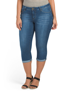 Plus Roll Cuff Crop Jeans