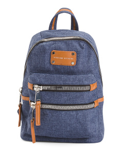 Double Zip Texture Backpack