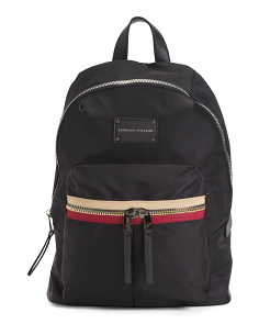 Nylon Color Zip Backpack