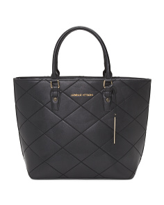 Diamond Stitch Quilted Tote