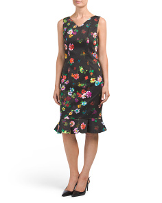 Floral Day Dress With Flutter Skirt