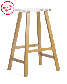 Metal Acrylic Bar Stool