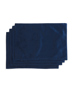 Set Of 4 Velvet Texture Placemats