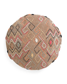 20in Textured Round Pillow