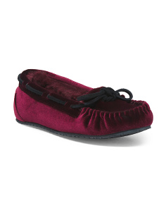 Allie Trapper Velour Slippers